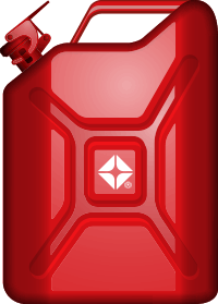 Red gas can with ARCO branding.